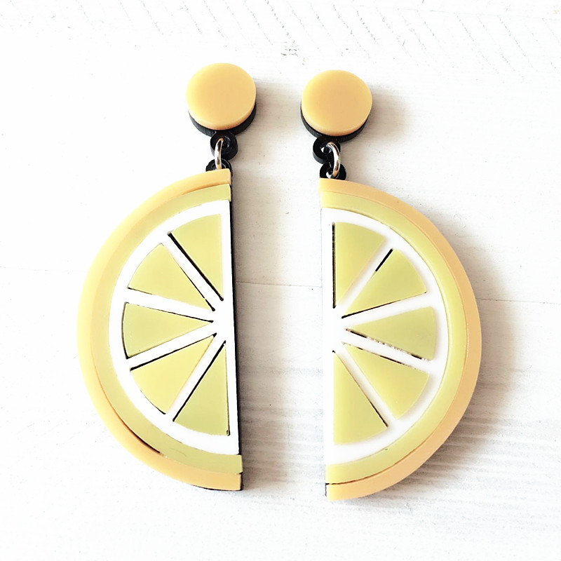 Dongmu jewellery 2017 new style punk style acrylic orange exaggerated big earrings fashion jewelry lady birthday gift