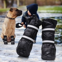 Cute Pet Dog Socks 4pcs Waterproof Winter Pet Snow Shoes Anti slip Rain Snow Boots Footwear Thick Warm For Puppy Dog Rain Shoes