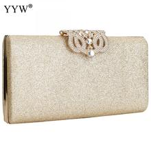 sequin Clutch Bags for women 2019 evening  clutches purse female elegant party bag  with chain rhinestone shoulder bag wallet цена в Москве и Питере