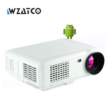 5000 lúmenes Android 4.4 Bluetooth Inteligente WIFI 1080 P mini LED digital portátil HD TV inicio Proyector proyector de vídeo USB beamer