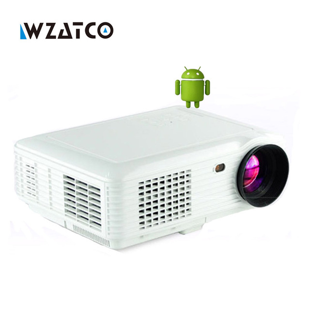 5000lumens Android 4.4 Bluetooth Smart WIFI 1080P portable mini LED digital HD TV home video USB Projector proyector beamer