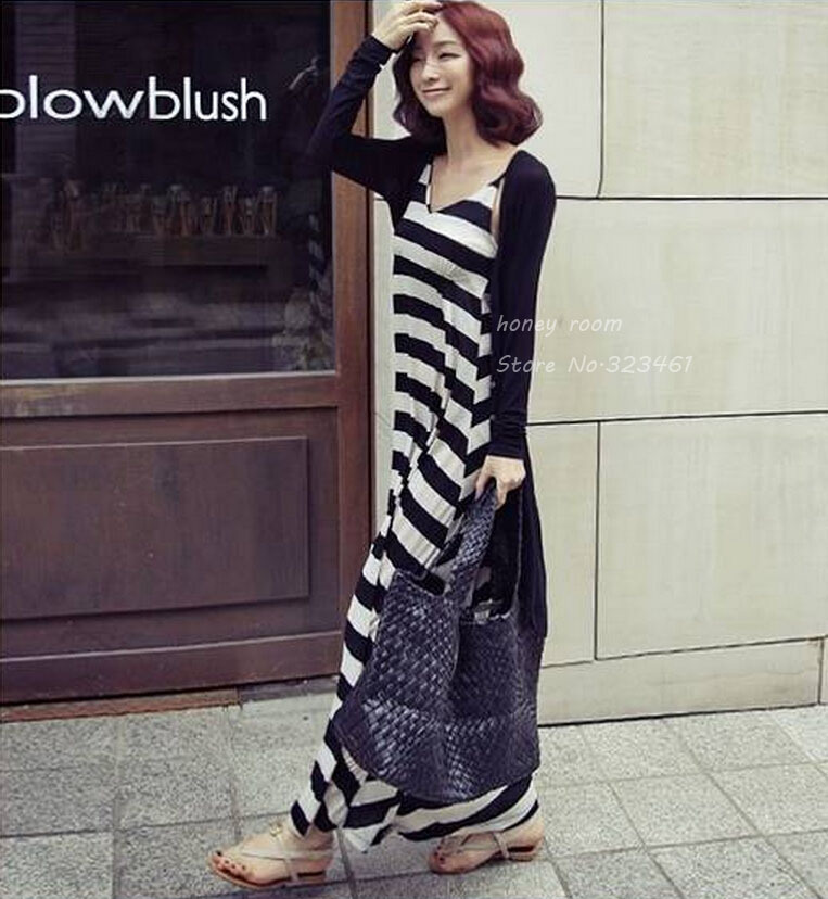 Fashion Maternity Cardigan Stripe One piece Dress Full Dress Twinset  Clothing Clothes For Pregnant Women 2018-in Dresses from Mother   Kids on  ... a26238c8d386