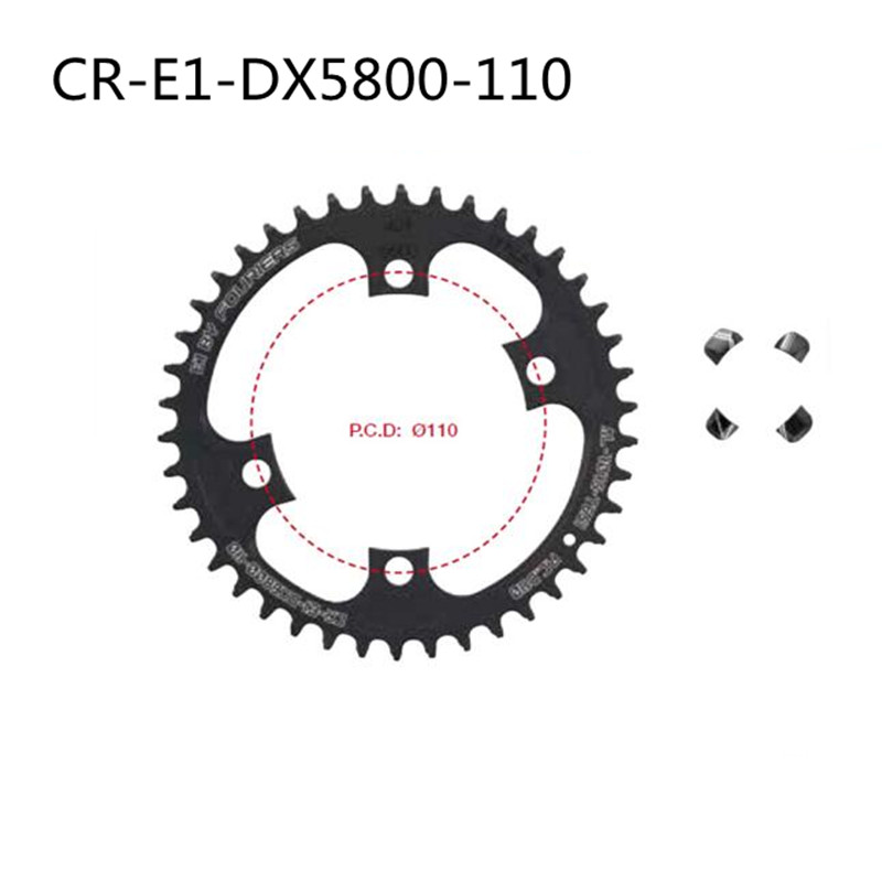 FOURIERS Road Chain Wheel Bicycle Chain Ring DX5800-110 BCD Chainring Chainwheel Gear 42T 46T fouriers road chain ring cr e1 dx5800 110 bcd chainring chainwheel gear road bicycle chain ring