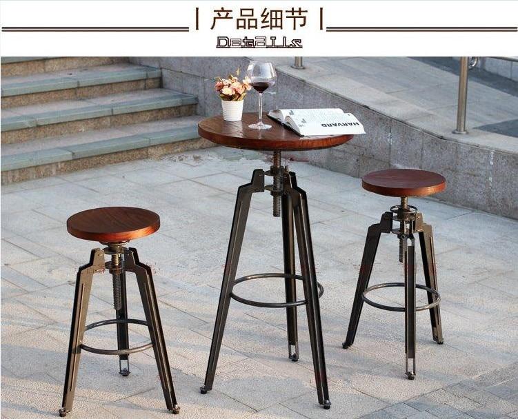 Americano vecchio vento industriale ferro rotante sollevamento sedia