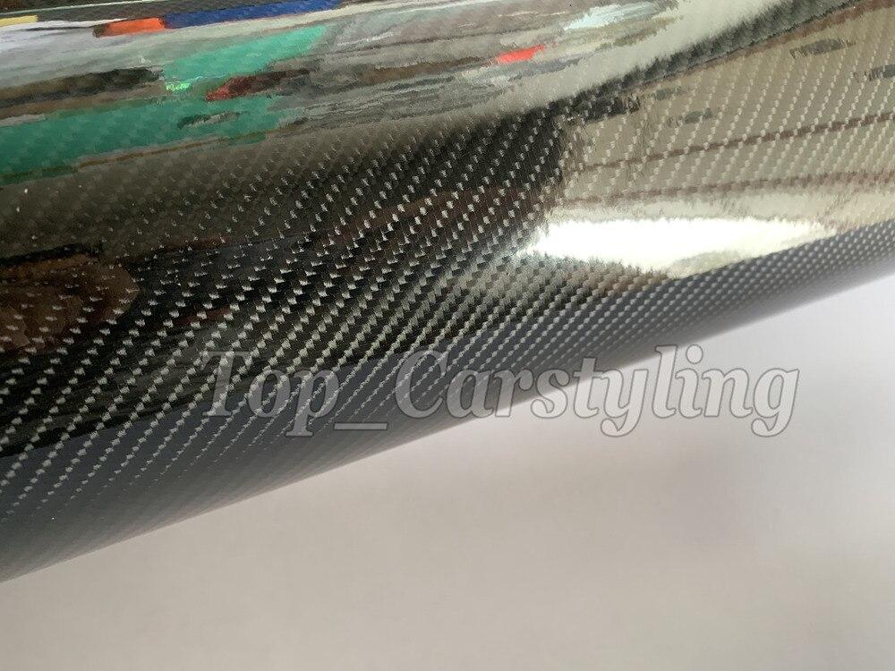 6D brillant Fiber de carbone vinyle Wrap pour toute la voiture wrap couvrant feuille autocollant protection comme 3 M qualité 1.52X20 M/5x67ft