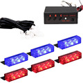 Roadhouse Grill 6 X 3 LED Blue Red Emergency Warning Car Auto Boat Grill Bar Police Strobe Light