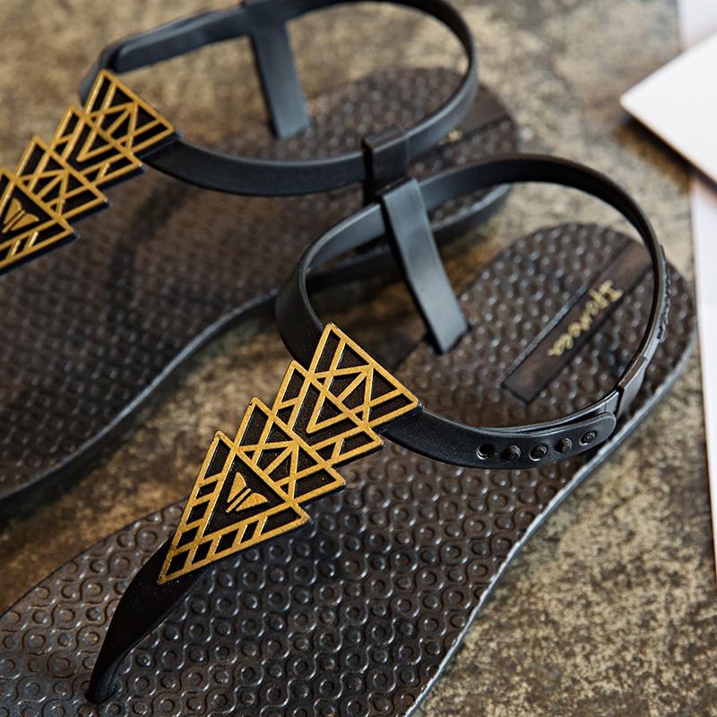 Moxxy Summer Flip Flops Women Flat Gladiator Sandals Women Slippers Outdoor Beach Flip Flops Diamond Plastic Shoes Jelly Sandal in Slippers from Shoes