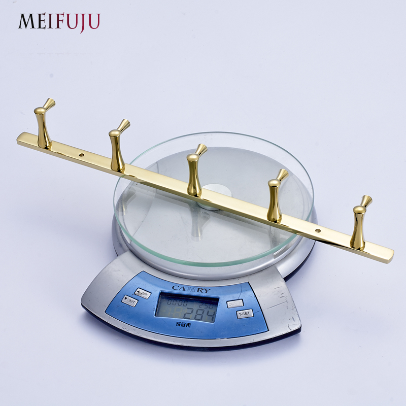 European Style Gold Plate Wall Hook Bathroom Accessories Metal Coat ...