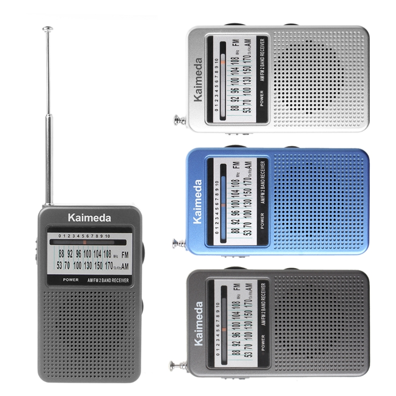 Portable AM/FM 2 Band Digital Display Pocket Radio Receiver Supporting Stereo Mode 5pcs pocket radio 9k portable dsp fm mw sw receiver emergency radio digital alarm clock automatic search radio station y4408