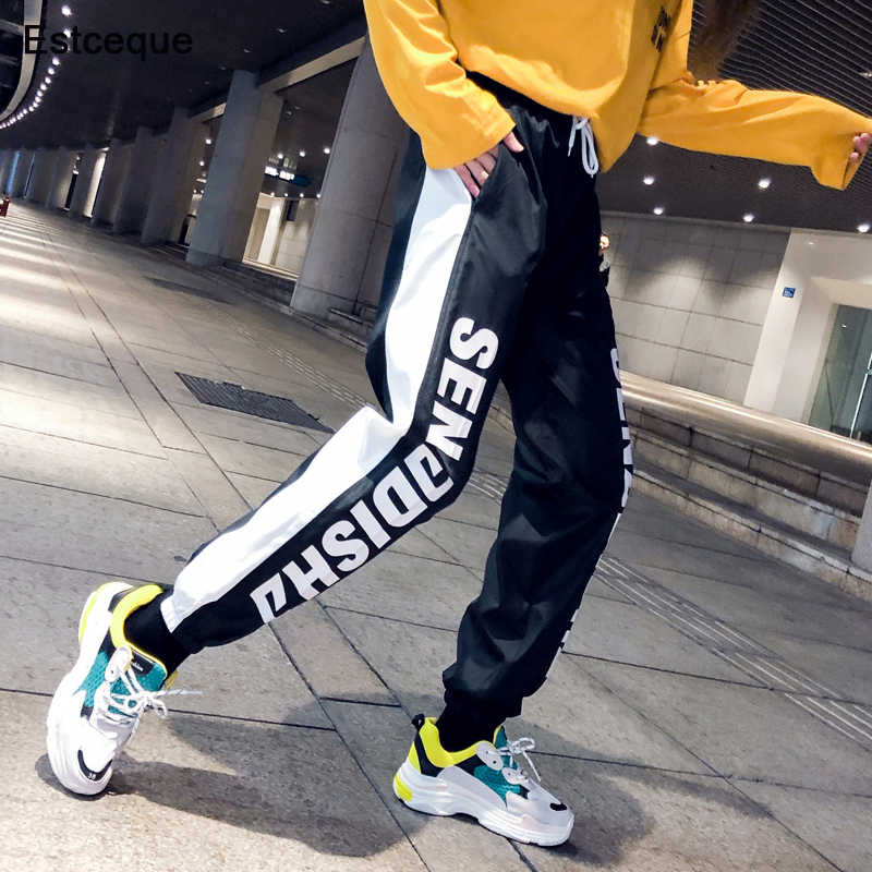 New Fashion Female Hip Hop Pants 2019 High Waist Loose Harem Pants Women Slim Pants Hip Hop Casual Jogging Trouser