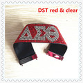 Delta sigma theta full of stone bracelet DST leather bling bangle magnetic clasp girl favor fraternity jewelry.OGL001.5-10pcs