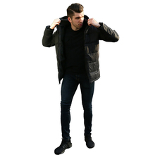 Fashion Winter Coat Men Cotton Clothing Plus Velvet Thin Section Mens Warm Long Sleeve Clothes 2019 Parka New Hot Sale