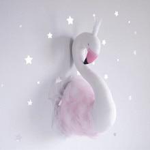 Birthday Gift Swan Wall Hanging Princess Hug Baby Sleeping Comforting Plush Stuffed Bedroom Decoration Toys Birthday Xams Pillow все цены