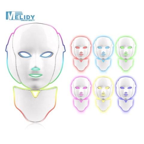 de mascara facial foton terapia luz cuidados