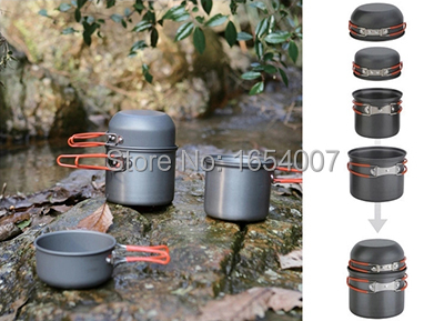 ФОТО 2017 New Fire Maple 2-3 Persons Outdoor Cutlery Pot Set Camp Cooking Cookware Portable Outdoor Camping Tablewares FMC-208 448g