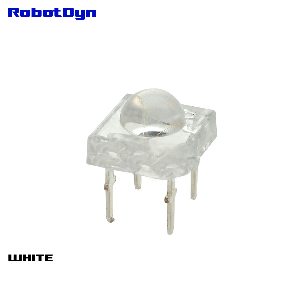 Super-Bright WHITE LED Piranha, crystal shell, DIP (pack 50 pcs)
