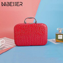 NIBESSER Sweet Portable Cosmetic Box High Quality Cosmetic Bag Women Large Capacity Storage Handbag Travel Toiletry Makeup Bag