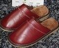 Правда подлинной коровьей мужчина женщина кожаные тапочки дешевой цене с сильными качества 100% кожаные мужские женские туфли