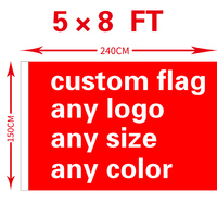 free shipping xvggdg Custom Flag 150X240cm (5x8FT) Polyester any logo any color Custom flag banner