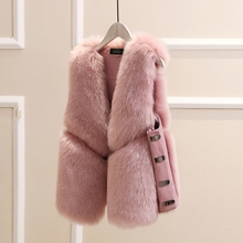 MUMUZI новая мода пальто из искусственного меха зимнее женское повседневное приталенное без рукавов из искусственного лисьего меха жилет зимняя куртка для женщин casaco feminino