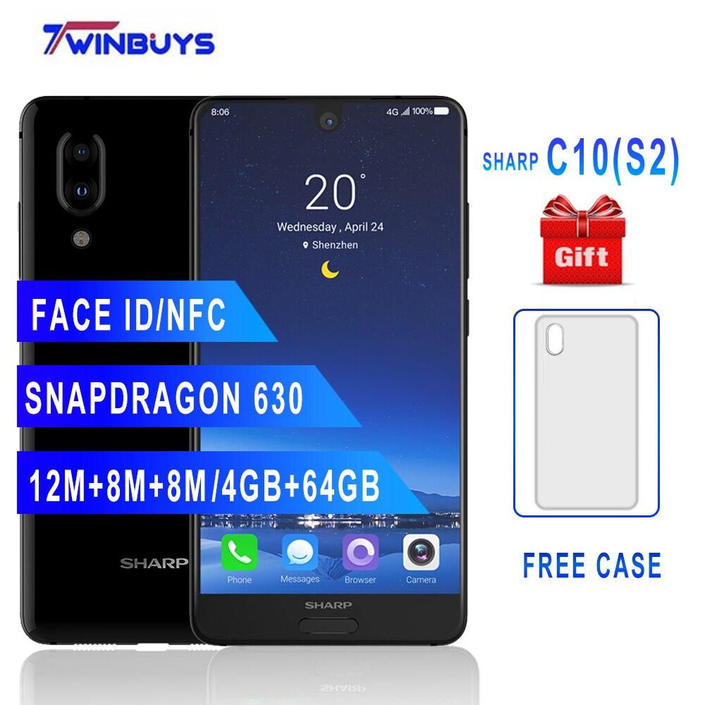 Original SHARP AQUOS C10 S2 Smartphone 4 GB + 64 GB gesicht ID 5,5 ''FHD + Snapdragon630 Octa Core android 8.0 12MP 2700 mAh handy-in Handys aus Handys & Telekommunikation bei AliExpress - 11.11_Doppel-11Tag der Singles 1