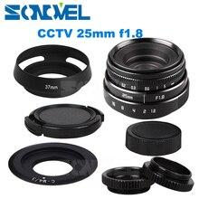 25mm F1.8 APS C CCTV Lens C Dağı + Hood Olympus Panasonic Mikro 4/3 M4/3 G7 G10 GH3 GH2 GH1 GX1 GF6 GF3 EPL5 EPM1 OM D EM10