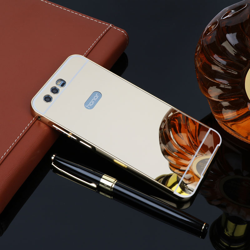 For Huawei Honor 9 Case Aluminum Metal Frame Bumper Acrylic Back Mirror Case For Fundas Huawei Honor 9 Covers Honor9 Hard Capas