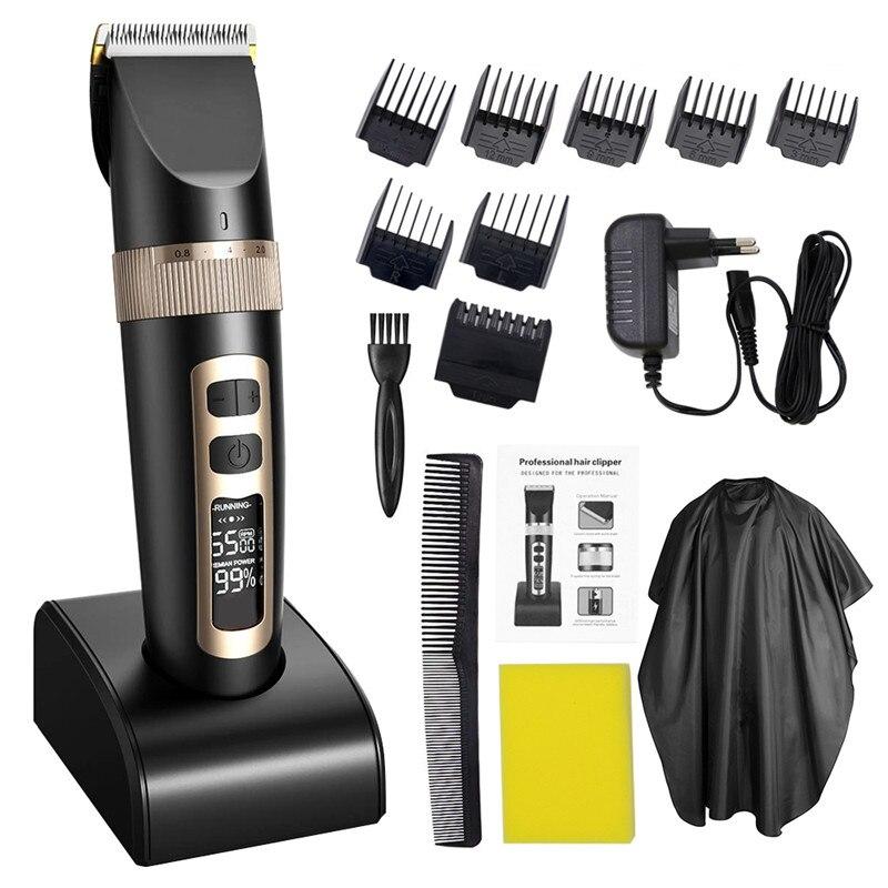 Profissional máquina de Cortar Cabelo Elétrica Aparador de Cabelo Para Homens Crianças E Barba Corte De Cabelo Corte de Cabelo De Barbear Máquina Recarregável