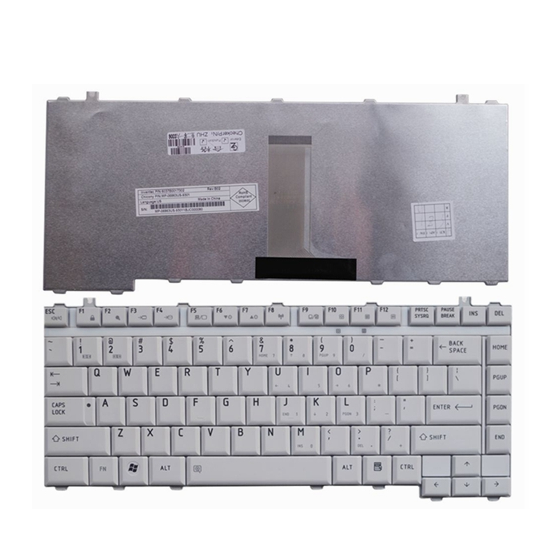 YALUZU US New Laptop Keyboard For Toshiba Tecra A9 M9 Satellite Pro S200 Black White English Keyboard