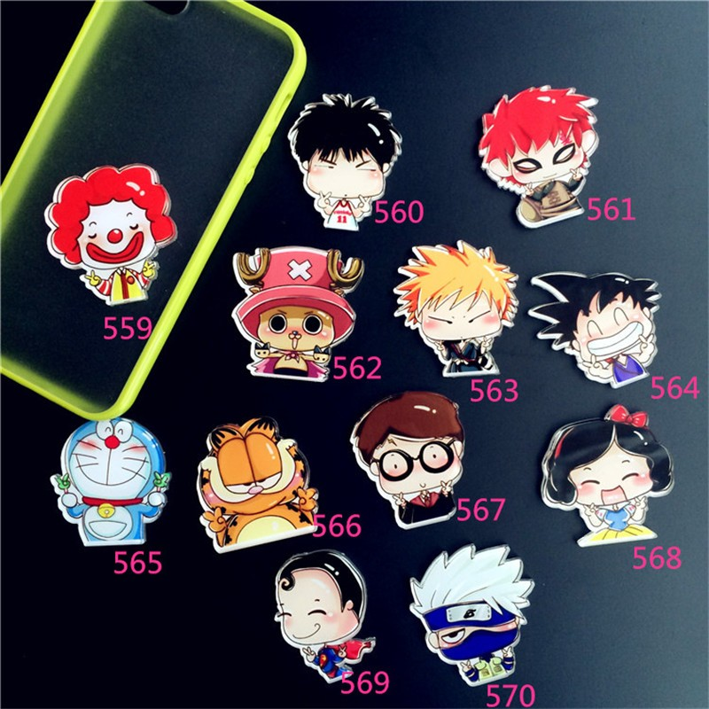 Acrylic HARAJUKU Badge cartoon charact creative Brooch Boys Girls Collar Tips Enamel BrocheXZ102