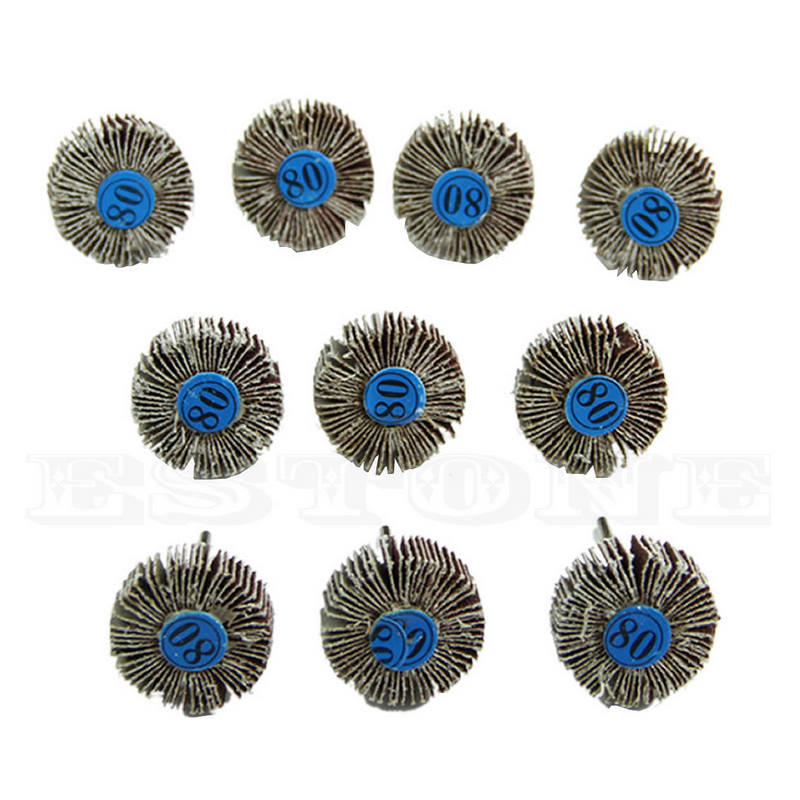 10pcs 80 Grit Flap Sanding Disc Abrasive Flap Wheels Sanding Discs Set for Rotary Power Tool