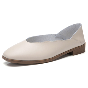 Image 2 - STQ 2020 Women Autumn Flats Shoes Genunie Leather Moccasin Shoes Slip On Sapato Feminino Ladies Casual Loafers Woman Shoes 2901