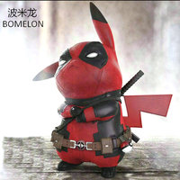 Pikachu Aciton Figures Pocket Monster Toys Deadpool Pikachu Puppets Anime Figures Boys Birthday Christmas Gifts Kids