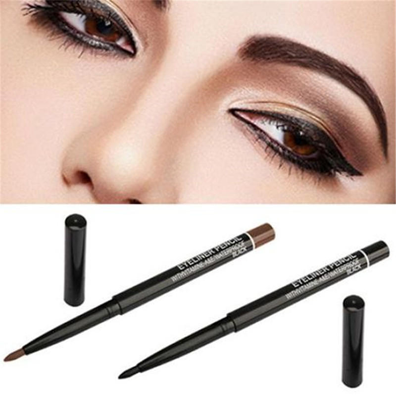1PC Black/Brown Eyeliner Waterproof Long Lasting Eye Liner <font><b>Pen</b></font> Smoothly Pigment Makeup Cosmetics for <font><b>Eyeshadow</b></font> Eyeliner Pencil image