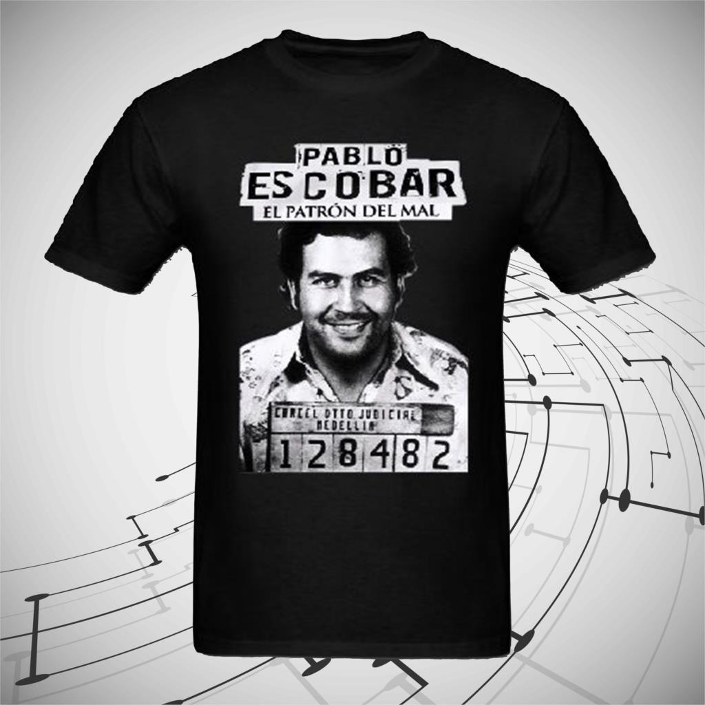 100% Cotone Gangster Pablo Escobar T Shirt Weed Mafia Scareface Luciano Soldi Capon Maglietta Delle Donne Maglietta Colori Fantasiosi