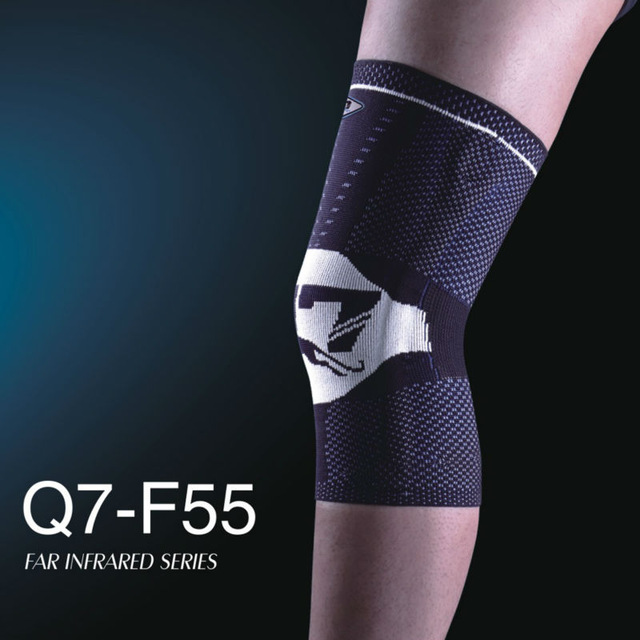 Q7 brand sports knee pad F55 basketball volleyball elastic rubber anti-collision knee Pads light gray and blue knee Pads support mens thickening football volleyball extreme sports knee pads brace support protect cycling knee protector kneepad ginocchiere