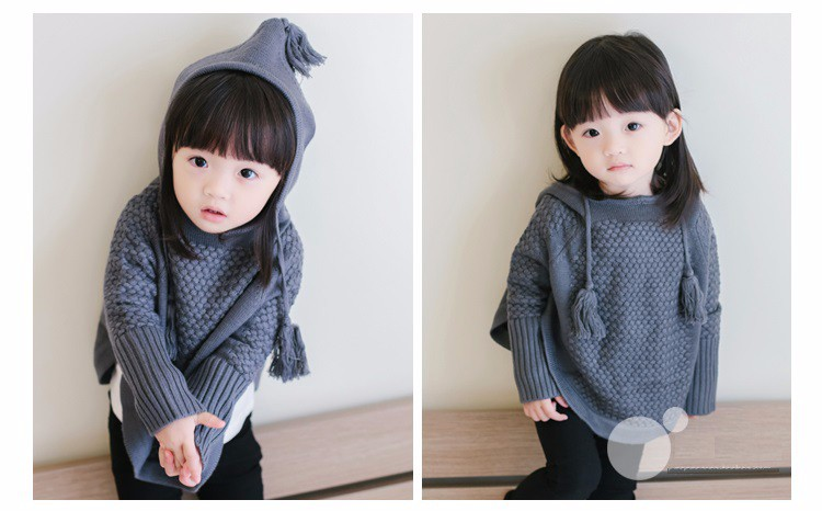 child hooded knitted sweaters 13