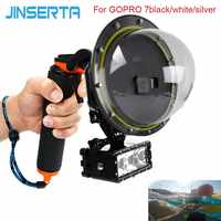 JINSERTA 2019 Dome Port Waterproof Case for GoPro Hereo 7 Black/White/Silver Diving Lens Cover w/ Pistol Trigger for GoPro 6 5