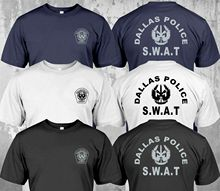 2019 Fashion New Swat Police Department Dallas Security Investigation Custom Double Side T-Shirt Unisex Tee
