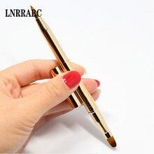 Модная профессиональная двухголовая Кисть для макияжа, выдвижная кисть для губ, кисть для основы, макияж, регулируемый инструмент, выдвижная помада, кисть