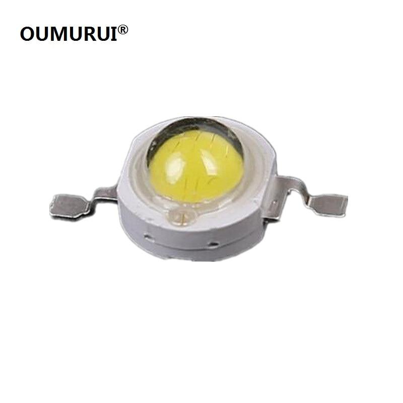 50pcs 5W LED High Power Bead Light White 6000-6500k/warm White 3000-3200k 45mil Chips 3.0-3.6v 1400mA Free Shipping