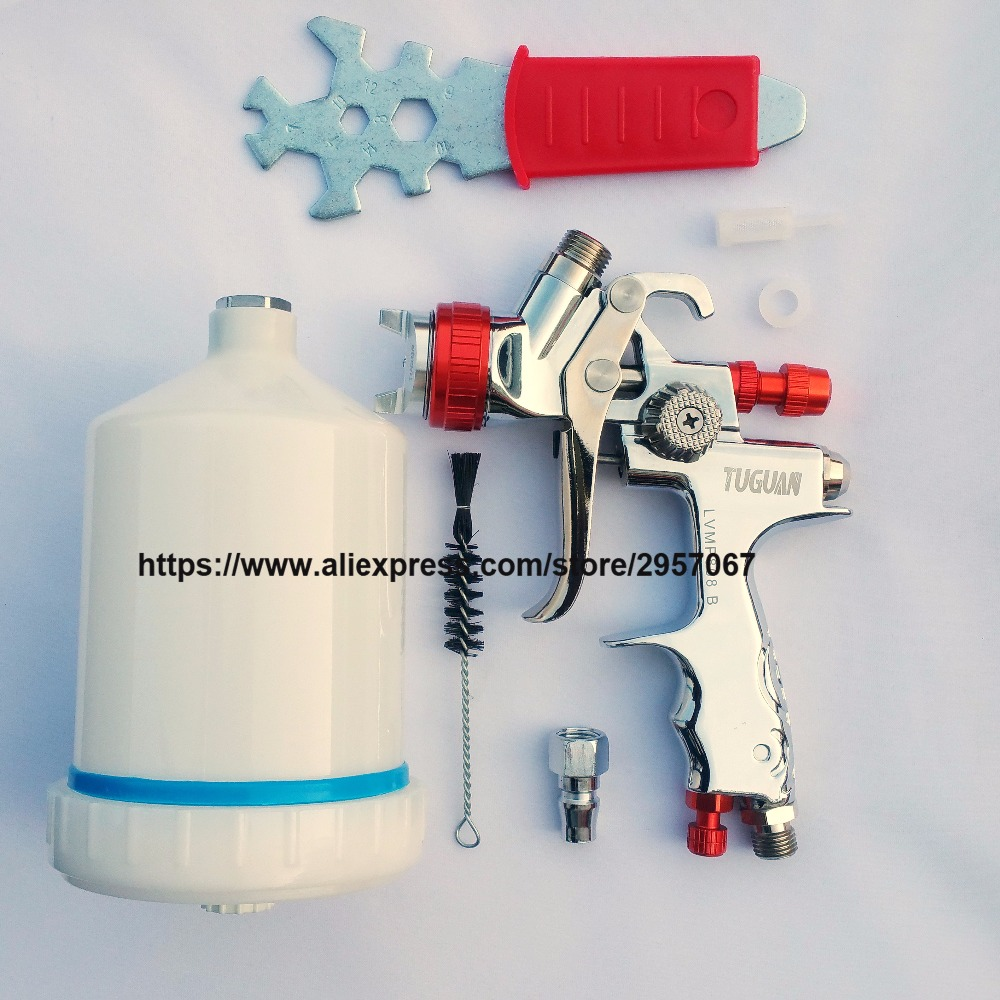 1.3mm LVMP Spray Gun professional Pneumatic Paint Gun Automobile Furniture Topcoat painting tools sat0079 professional high quality airbrush spray paint for cars painting spray gun lvmp for furniture pneumatic machine tools