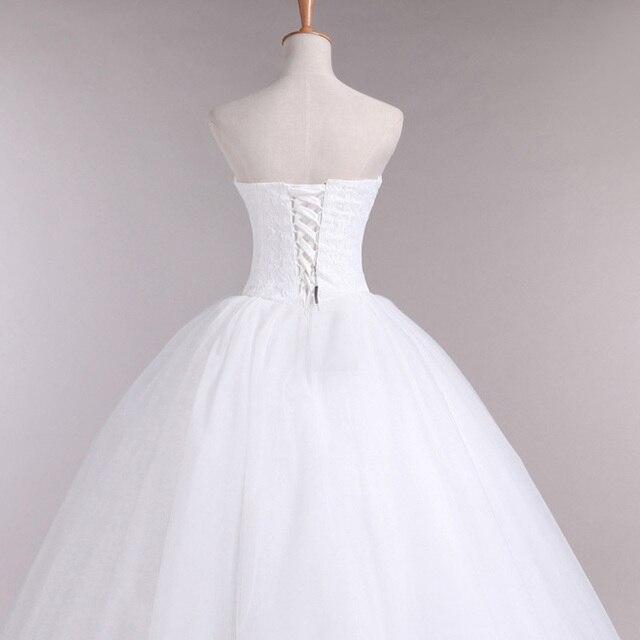 LAMYA Court Train Wedding Dress 2021 Cheap Celebrity Strapless Vintage Tulle Bridal Ball Gown Organza Lace bridal dresses 4