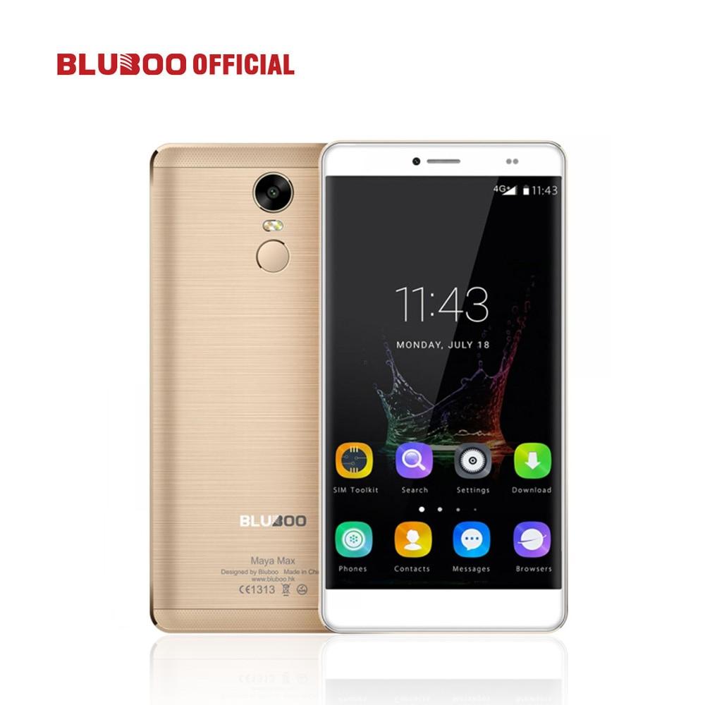 Bluboo maya max mobile phone 6.0 HD MTK6750 Octa Núcleo 3 GB RAM 32 GB ROM Android 6.0 13MP + 8MP Dual SIM 4G LTE impressão digital 4200 mAh