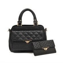 Tote Wallet 2 pcs set Women handbags PU Leather Famous Brand Fashion New Vintage Causal Designer