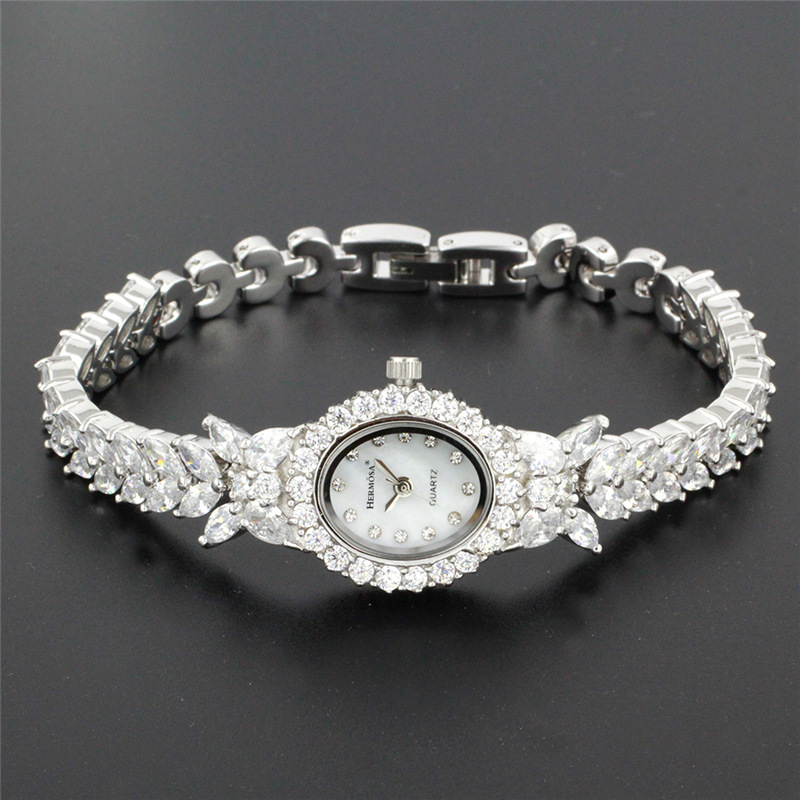 Perfect Womens Quartz Wristwatch Fashion Jewelry Watch For Lady Party Bracelet 8 Inches HS0013W fashion plus 8 inches