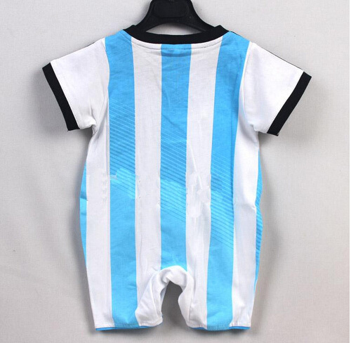 73612a41202 100% Cotton 2014 World Cup Argentina Baby soccer jersey Rompers,0 3 years  Infant BB kids football shirts coveralls free shipping-in Soccer Jerseys  from ...