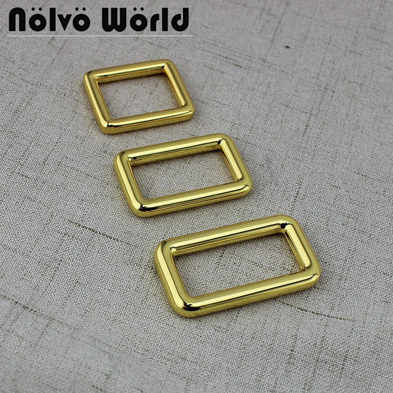 50pcs Inner 25x19mm 31x16mm 38x16mm Round Edge bags purse handbags strapping square buckles welded buckle