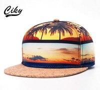 新ブランド高品質野球キャップ男の子女の子フラットつばのgorrasスナップバックキャップ屋外で3dプリント砂浜ヒップホップ太陽帽子