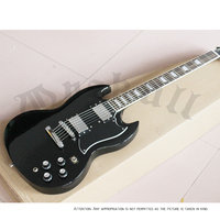 Wholesale SG400 Guitars Black Gloss Finish Ebony Fingerboard SG Standard Electric Guitar